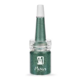Moyra Glitter in een flesje no 10 Green