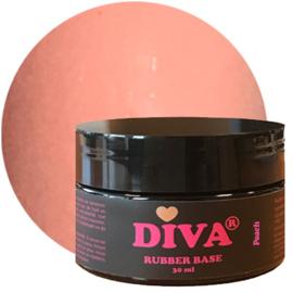 Diva Gellak Rubber Basecoat Peach POT 30 ml