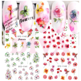 Waterdecals 002 Flowers