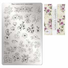 Moyra Stamping Plaat 75 Norka's Garden