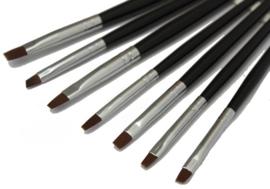 7 Delig zwart set gel penselen