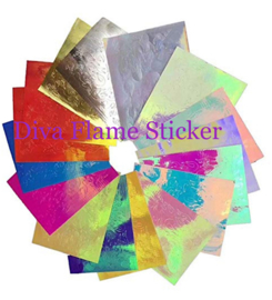 Diva Flame Hologram Stickers 16 Sheets