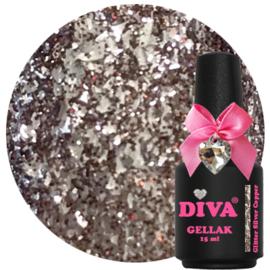 Diva Gellak Glitter Silver Copper 15ml