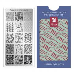 Moyra Mini Stamping Plate 115 Happily Ever After