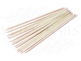 10  Orange wood sticks