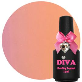 Diva UV Dazzling Topcoat Nude zonder plaklaag 15 ml