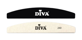 Diva Hygiëne Half Moon Systeem Zebra Vijlen 240 grit 25 pcs inclusief Plastic Handle