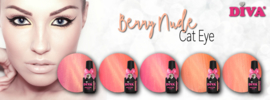 Diva Gellak Cat Eye Berry Nude Collection met Extra Strong Magneet