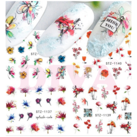 Waterdecals 001 Flowers