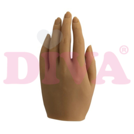 Siliconen hand links met standaard - Ivory