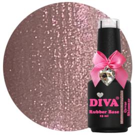 Diva Gellak Rubber Basecoat Cover Shimmer 15 ml