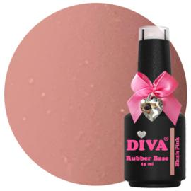 Diva Gellak Rubber Basecoat Blush Pink 15 ml