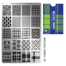 Moyra Stamping Plaat 02 Fabric Texture
