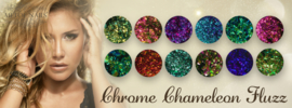 Chrome Chameleon Fluzz  Collectie 8 potjes