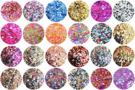 Diamondline Pretty Confetti set van 24 stuks