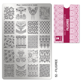 Moyra Stamping Plaat 52 Filigree