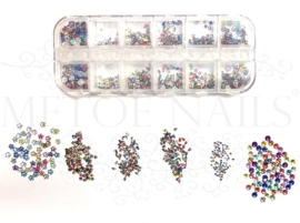 Strass stones color 6 maten in een box