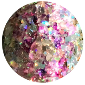 Hologram Flakes 'Jewels from Heaven' Pink