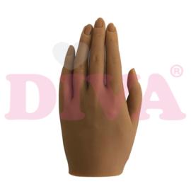 Siliconen hand links met standaard - Tawny