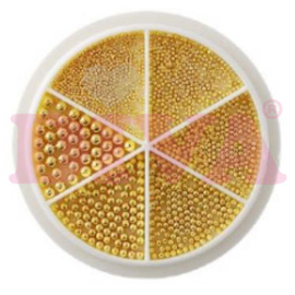 Wiel Nail beads Gold