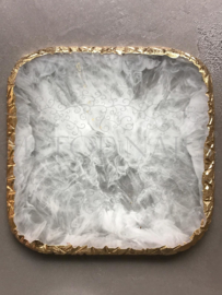 Display Stone Off White Square