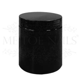Kunststof pot zwart 100 gram