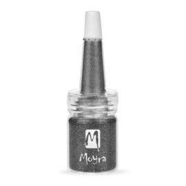 Moyra Glitter No.19 in fles Dark Grey