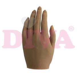Siliconen hand links met standaard - Amber