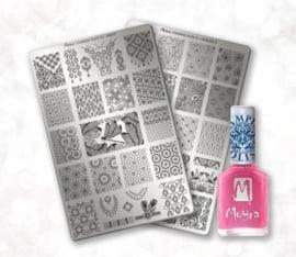 Moyra Stamping Plate 2 + 1 Nailpolish gratis