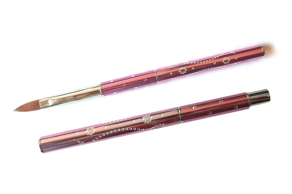 Kolinsky acryl penseel pink #8 met dop