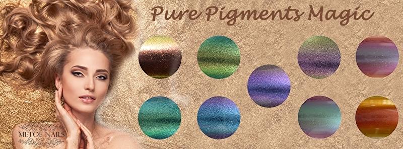 Chrome Pure Pigment Magic 9 kleuren + gratis fluffy penseel