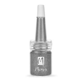 Moyra Glitter in een flesje no 7 Dark Silver