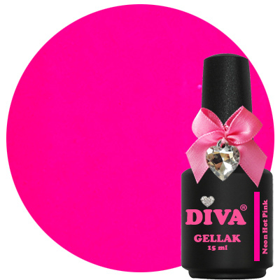 Diva Gellak Neon Hot Pink 15 ml