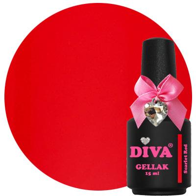 Diva Gellak Scarlet Red 15 ml