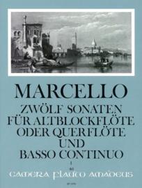 Marcello ; Zwölf sonaten für altblockflöte oder querflöte und Basso Continuo