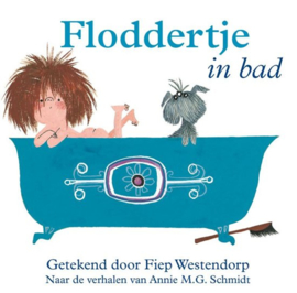 Floddertje in bad (badboek)
