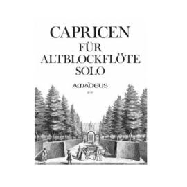 Capricen für altblockflöte solo Amadeus