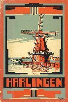 Gids voor Harlinger rond 1934 (repro)