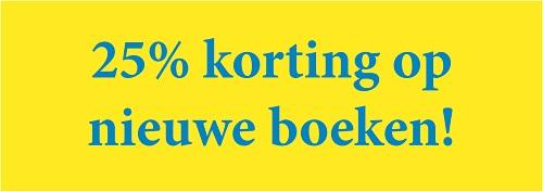 25% korting op nieuwe boeken