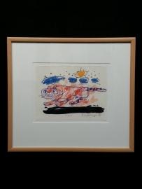 Originele tekening met de titel CATO