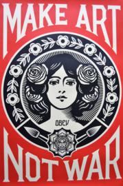 Shepard Fairey. Make Art Not War