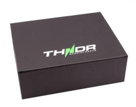 Koplamprand LED THNDR glans zwart Vespa Sprint