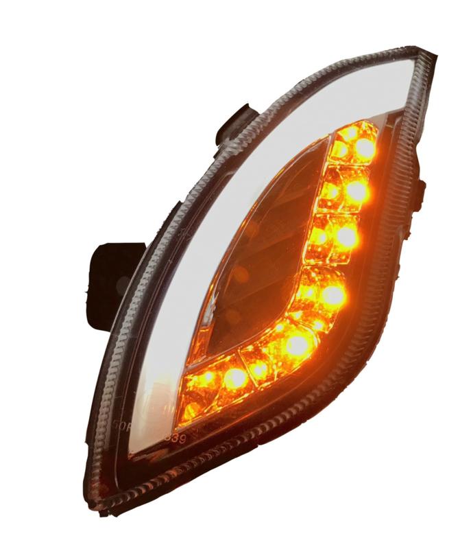 Knipperlicht set voor en achter LED met dagrijverlichting