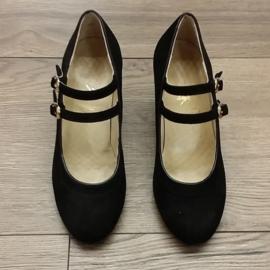 *YBR-120-Black Suede-6cm