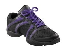 *CAP-DS30-Bolt Dansneaker / PUR (Black & Purple)