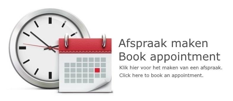 Afspraak maken | Book appointment