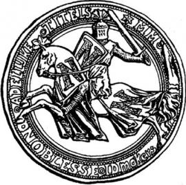 Adellijke titel: Baron(es) von Bistermund - met vergulde borstster