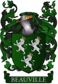 Adellijke titel: Baron(es) de Beauville met verzilverde borstster