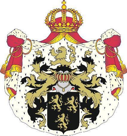 Adellijke titel: Hertog(in) van Beauluna -  met vergulde borstster