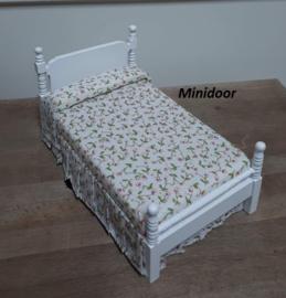1 persoonsbed (wit gelakt)